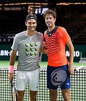 Rotterdam, Netherlands, 12 Februari, 2018, Ahoy, Tennis, ABNAMROWTT, Robin Haase (NED), Roger Federer (SUI)<br /> Photo:tennisimages.com