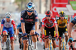 Tobias Bayer (AUT) Alpecin-Fenix crosses the finish line at the end of Stage 8 of La Vuelta d'Espana 2021, running 173.7km from Santa Pola to La Manga del Mar Menor, Spain. 21st August 2021.     <br /> Picture: Luis Angel Gomez/Photogomezsport | Cyclefile<br /> <br /> All photos usage must carry mandatory copyright credit (© Cyclefile | Luis Angel Gomez/Photogomezsport)