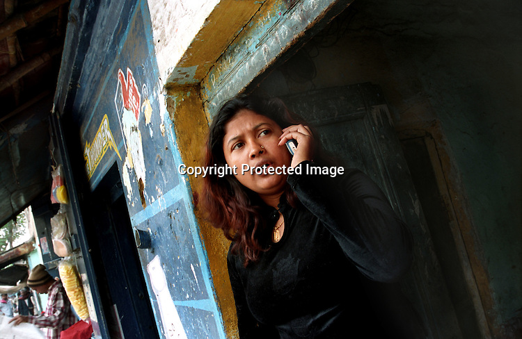 INDIA (West Bengal - Calcutta) - Sathi is a sex worker in Munsigaunj. She was trafficked from Bangladesh when she was a kid.   Kolkata, India- Arindam Mukherjee