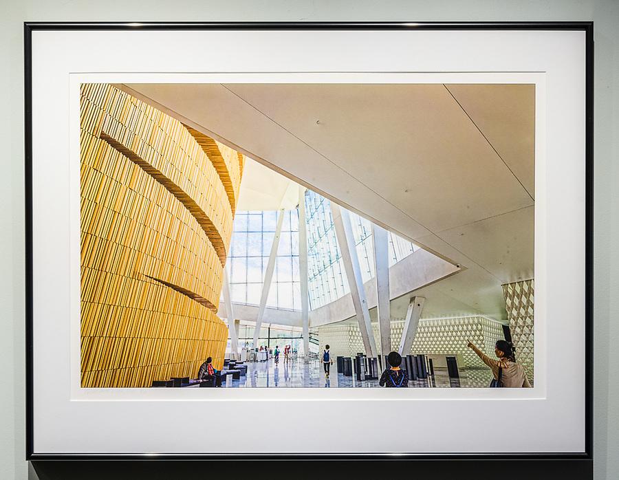 """Framed Size 20""""h x 26""""w, $625.<br /> Contrast Gray Nielsen 15 metal frame"""