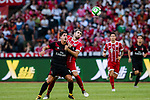 AC Milan Forward Gianluca Lapadula (L) fights for the ball with Bayern Munich Midfielder Javi Martinez (R) during the 2017 International Champions Cup China  match between FC Bayern and AC Milan at Universiade Sports Centre Stadium on July 22, 2017 in Shenzhen, China. Photo by Marcio Rodrigo Machado / Power Sport Images