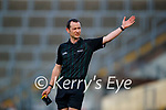 Referee, James Henry during the Munster Football Championship game between Kerry and Clare at Fitzgerald Stadium, Killarney on Saturday.