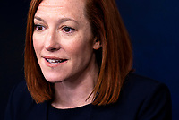 White House Press Secretary Jen Psaki holds a press briefing at the White House in Washington, DC on Friday, February 12, 2021. <br /> CAP/MPI/RS<br /> ©RS/MPI/Capital Pictures