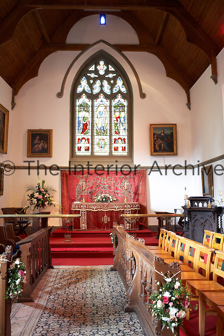 Inside the house on the Clandeboye estate, which is the home to Lady Dufferin, Marchioness of Dufferin and Ava. The chapel of Clandeboye was the private chapel of the Blackwood family.