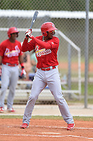 St. Louis Cardinals infielder Cesar Valera (8) during a minor league spring training intrasquad game on March 28, 2014 at the Roger Dean Stadium Complex in Jupiter, Florida.  (Mike Janes/Four Seam Images)