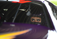 Apr. 29, 2011; Baytown, TX, USA: NHRA pro stock driver Vincent Nobile during qualifying for the Spring Nationals at Royal Purple Raceway. Mandatory Credit: Mark J. Rebilas-