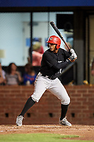 Chattanooga Lookouts right fielder Edgar Corcino (21) at bat during a game against the Mobile BayBears on May 5, 2018 at Hank Aaron Stadium in Mobile, Alabama.  Chattanooga defeated Mobile 11-5.  (Mike Janes/Four Seam Images)