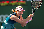 March 9, 2019: Angelique Kerber (GER) hits a backhand during her match where she defeated Yulia Putintseva (KAZ) 6-0, 6-2 at the BNP Paribas Open at the Indian Wells Tennis Garden in Indian Wells, California. ©Mal Taam/TennisClix/CSM
