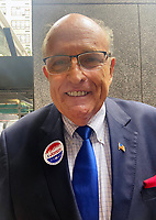 Rudolph Giuliani Seen Voting on Primary Election Day 2021
