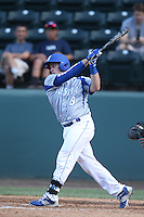 Chris Weiss (8) of the Hofstra Pride bats during a game against the UCLA Bruins at Jackie Robinson Stadium on March 14, 2015 in Los Angeles, California. UCLA defeated Hofstra, 18-1. (Larry Goren/Four Seam Images)