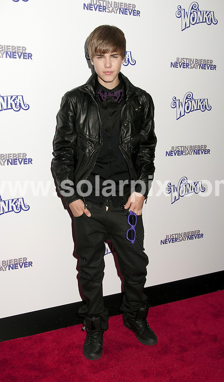 **ALL ROUND PICTURES FROM SOLARPIX.COM**                                             **SYNDICATION RIGHTS FOR UK, AUSTRALIA, DENMARK, PORTUGAL, S. AFRICA, SPAIN & DUBAI (U.A.E) & ASIA (EXCLUDING JAPAN) ONLY**                                                                                  Caption:  Justin Bieber arrives for the - Never Say Never - New York City Premiere, held at Regal E-Walk 13, New York City, NY, USA. 2 February 2011                                                                         This pic: Justin Bieber                                                 JOB REF: 12747 PHZ Mayer     DATE: 02_02_2011                                                           **MUST CREDIT SOLARPIX.COM OR DOUBLE FEE WILL BE CHARGED**                                                                      **MUST AGREE FEE BEFORE ONLINE USAGE**                               **CALL US ON: +34 952 811 768 or LOW RATE FROM UK 0844 617 7637**