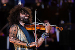 Spanish violinist Ara Malikian during the last symphonic concert of the tour at Plaza de Toros Las Ventas in Madrid. September 15, 2016. (ALTERPHOTOS/Borja B.Hojas)