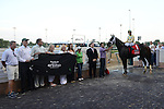 Funny Proposition and jockey Joel Rosario win the Fleur de Lis at Churchill Downs for ownerJohn Oxley and trainer Mark Casse; June 15, 2013