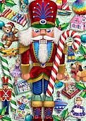 Randy, CHRISTMAS SANTA, SNOWMAN, WEIHNACHTSMÄNNER, SCHNEEMÄNNER, PAPÁ NOEL, MUÑECOS DE NIEVE, paintings+++++,USRW397,#x# ,nutcracker