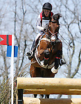 April 26, 2014: Enchantez and Lindsey Oaks compete in Cross Country at the Rolex Three Day Event in Lexington, KY at the Kentucky Horse Park.  Candice Chavez/ESW/CSM