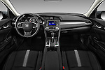 Stock photo of straight dashboard view of 2018 Honda Civic LX 4 Door Sedan Dashboard