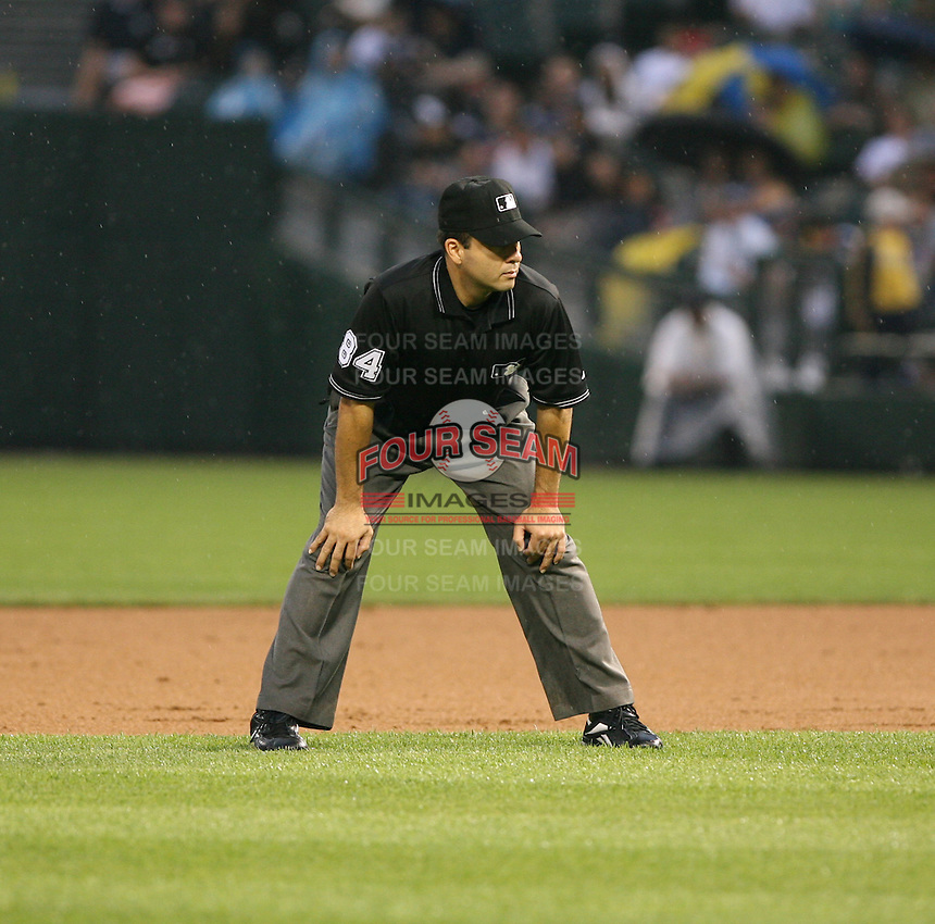 2007:  MLB Umpire Angel Campos at U.S. Cellular Field during an American League baseball game.  Photo by Mike Janes/Four Seam Images