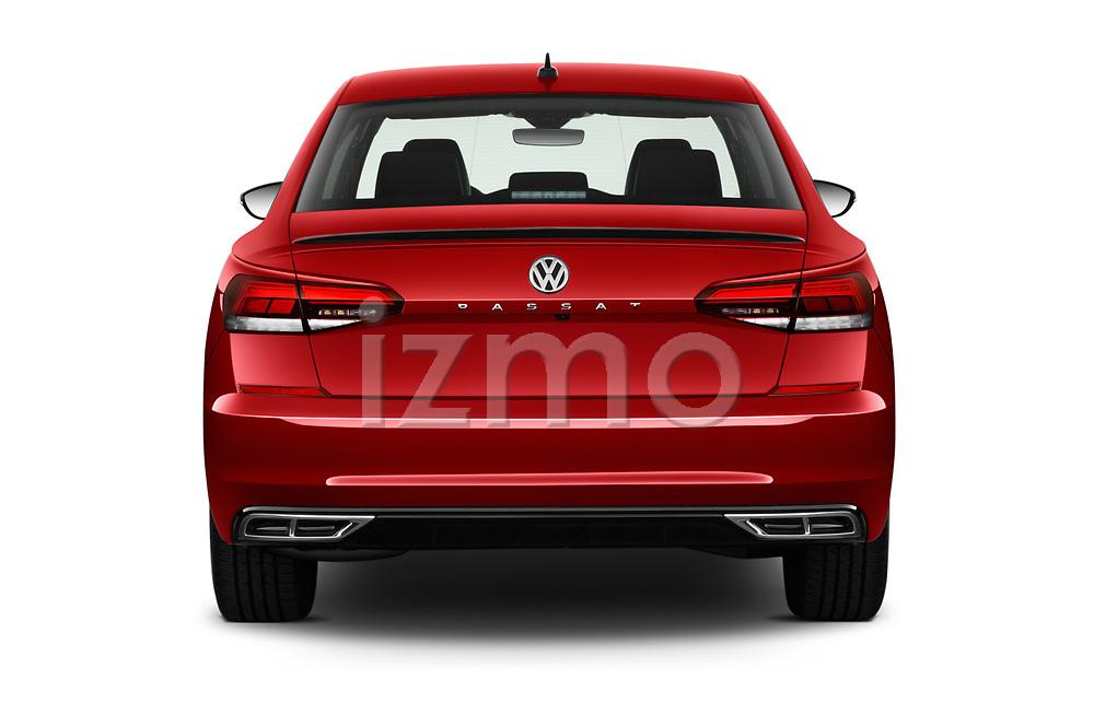 Straight rear view of 2020 Volkswagen Passat R-Line 4 Door Sedan Rear View  stock images