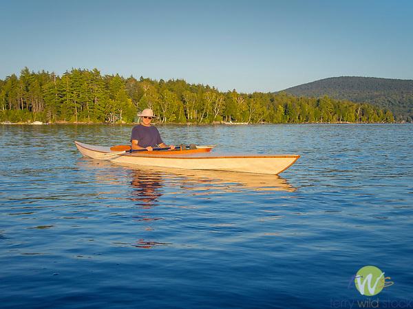 Camp Allagash, Moosehead Lake, ME. Tolston Wild in handbuilt canvas kayak.