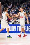 Real Madrid and Crvena Zvezda Telekom during Euroligue Basketball at Barclaycard Center in Madrid, October 22, 2015<br /> Doncic and Radoncic.<br /> (ALTERPHOTOS/BorjaB.Hojas)