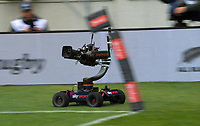 A Skysport remote camera runs the sideline during the Bledisloe Cup rugby union match between the New Zealand All Blacks and Australia Wallabies at Sky Stadium in Wellington, New Zealand on Sunday, 11 October 2020. Photo: Dave Lintott / lintottphoto.co.nz
