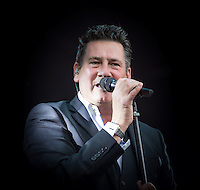 Tony Hadley and the Southbank Sinfonia Orchestra performing during Rewind South, The 80s Festival, at Temple Island Meadows, Henley-on-Thames, England on 20 August 2016. Photo by David Horn.