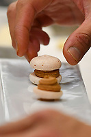 Modena, 23 February 2017 – A chef prepares an amuse bouche at a lunch service at Osteria Francescana, Modena, Italy. Photo Sydney Low