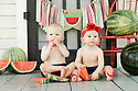 Rian and Bronson M Twins One Year Baby Bee Session 3 of 4