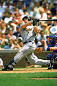 CHICAGO - CIRCA 2002:  Jeff Bagwell #5 of the Houston Astros bats during an MLB game at Wrigley Field in Chicago, Illinois. Bagwell played for 15 seasons, all with the Houston Astros, was a 4-time All-Star and was inducted to the Baseball Hall of Fame in 2017.(David Durochik / SportPics) --Jeff Bagwell