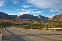 Trans Alaska oil pipeline, James Dalton Highway, Brooks Range, Alaska.