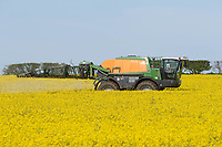 13-5-2021 Spraying Oilseed rape  on the Lincolnshire Wolds<br /> ©Tim Scrivener Photographer 07850 303986<br />      ....Covering Agriculture In The UK....