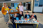 Ardfert NS who received €5,000 worth of book tokens from the National Book Tokens at the school on Monday morning, kneeling l to r: Emma Bodenham, Sinead Flynn, William Dillon and Cormac O'Halloran. Back l to r: Betty Stack (Principal) and Marie O'Connell (Teacher).