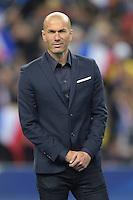 Zinedine Zidane<br /> hommage aux joueurs francais capes de 100 selections <br /> Parigi 26-03-2015 Stade De France Calcio Football 2014/2015 Amichevole Francia Brasile <br /> Foto Panoramic / Insidefoto