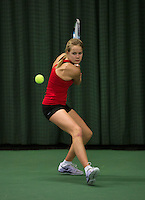 Rotterdam, The Netherlands, 15.03.2014. NOJK 14 and 18 years ,National Indoor Juniors Championships of 2014, Nina Kruijer (NED)<br /> Photo:Tennisimages/Henk Koster