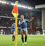Martyn Waghorn celebrates his killer fourth goal