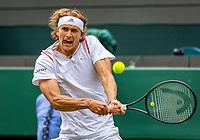 London, England, 1  st July, 2019, Tennis,  Wimbledon, Alexander Zverev (GER)<br /> Photo: Henk Koster/tennisimages.com
