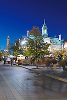 Canada, Montreal, Hotel de Ville, Town Hall, at night