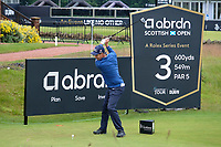 7th July 2021; North Berwick, East Lothian, Scotland; Padraig Harrington Ireland on the 3rd tee during the Celebrity Pro-Am at the abrdn Scottish Open at The Renaissance Club, North Berwick, Scotland.