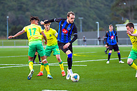 Action from the Central League Football match between Lower Hutt and Miramar Rangers at Fraser Park in Lower Hutt, New Zealand on Saturday, 22 August 2020. Photo: Dave Lintott / lintottphoto.co.nz