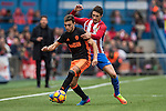Munir El Haddadi Mohamed of Valencia CF (left) competes for the ball with Sime Vrsaljko of Atletico de Madrid (right) during the match Atletico de Madrid vs Valencia CF, a La Liga match at the Estadio Vicente Calderon on 05 March 2017 in Madrid, Spain. Photo by Diego Gonzalez Souto / Power Sport Images