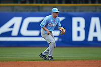Ike Freeman (8) of the North Carolina Tar Heels on defense against the Boston College Eagles in Game Five of the 2017 ACC Baseball Championship at Louisville Slugger Field on May 25, 2017 in Louisville, Kentucky. The Tar Heels defeated the Eagles 10-0 in a game called after 7 innings by the Mercy Rule. (Brian Westerholt/Four Seam Images)