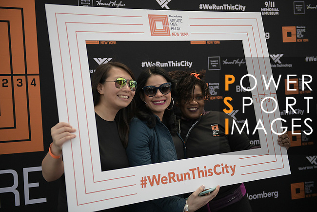 Runners compete during the Bloomberg Square Mile Relay race across New York City`s Financial District on 15 March 2017 in New York, United States. Photo by Victor Fraile / Power Sport Images