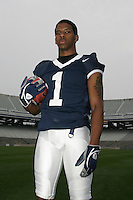 State College, PA - July 10, 2006:  Penn State defensive back Justin King poses for a portrait in Beaver Stadium on July 10, 2006, in State College, PA.   (PHOTO BY: Joe Rokita / JoeRokita.com)