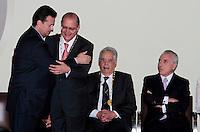 SAO PAULO, SP, 25 DE JANEIRO DE 2012 - ENTREGA MEDALHA 25 DE JANEIRO - E/d Prefeito Gilberto Kassab Geraldo Alckmin , Fernando Henrique Cardoso e Michel Temer durante cerimonia de entrega da Medalha 25 de Janeiro na sede da Prefeitura de Sao Paulo, na regiao central da capital paulista nessa quarta-feira, 25. FOTO: VANESSA CARVALHO - NEWS FREE.