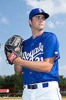 Alex Luna (21) of the Burlington Royals poses for a photo prior to the game against the Danville Braves at Burlington Athletic Park on July 12, 2015 in Burlington, North Carolina.  The Royals defeated the Braves 9-3. (Brian Westerholt/Four Seam Images)
