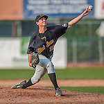 12 July 2015: West Virginia Black Bears pitcher Daniel Zamora on the mound against the Vermont Lake Monsters at Centennial Field in Burlington, Vermont. The Lake Monsters rallied to defeat the Black Bears 5-4 in NY Penn League action. Mandatory Credit: Ed Wolfstein Photo *** RAW Image File Available ****