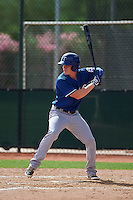 Texas Rangers Nick Kaye (8) during an instructional league game against the Seattle Mariners on October 5, 2015 at the Surprise Stadium Training Complex in Surprise, Arizona.  (Mike Janes/Four Seam Images)