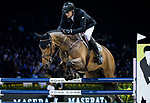 Marc Houtzager of The Netherlands riding Sterrehof's Edinus competes in the Maserati Masters Power during the Longines Masters of Hong Kong at AsiaWorld-Expo on 10 February 2018, in Hong Kong, Hong Kong. Photo by Diego Gonzalez / Power Sport Images