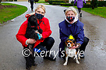 Claudia O'Shea (left) with Mia the dog with Joan O'Connor and Ollie the dog enjoying a stroll in the Killarney National park on Friday.