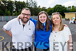 Kiah Robinson graduating from Presentation NS Tralee on Monday with her parents .Ken and Lorna Robinson.